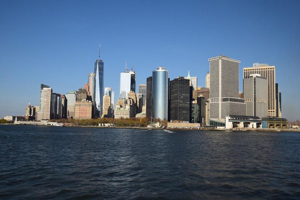 Vista de Manhattan desde el ferry.