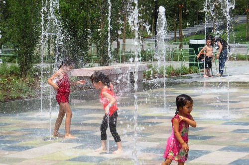 tirana albania skanderbeg square water fountain children