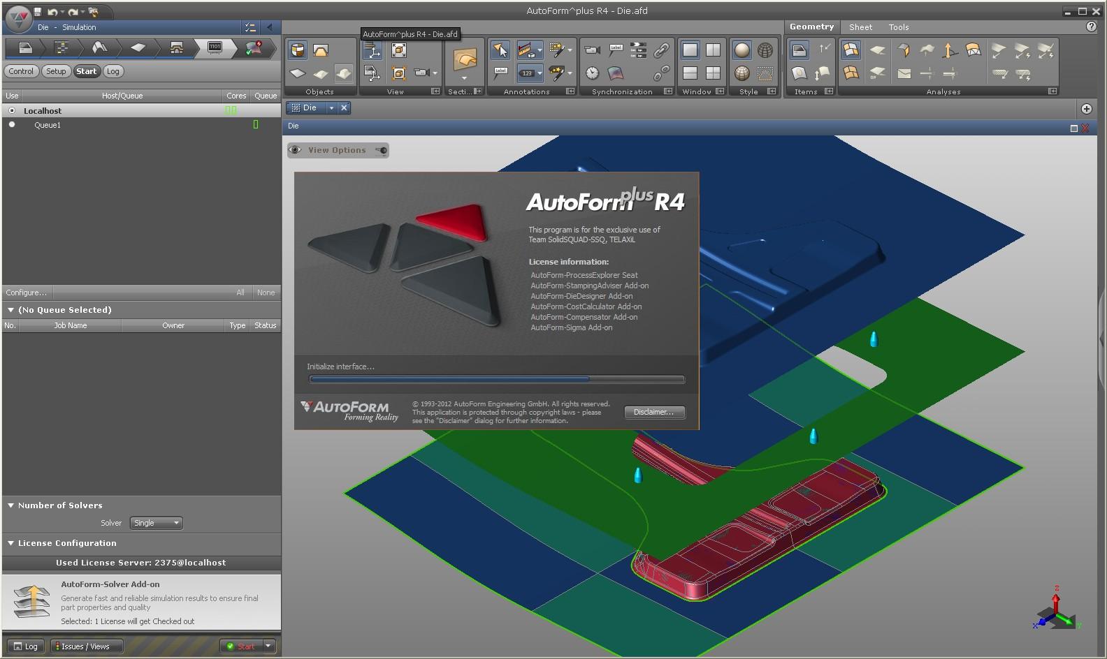 Product designing with AutoForm^Plus R4 full license