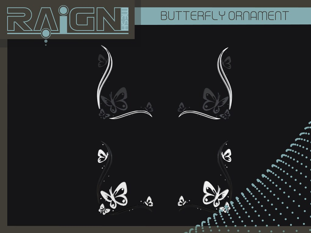 RAIGN Butterfly Wall Ornament - SecondLifeHub.com