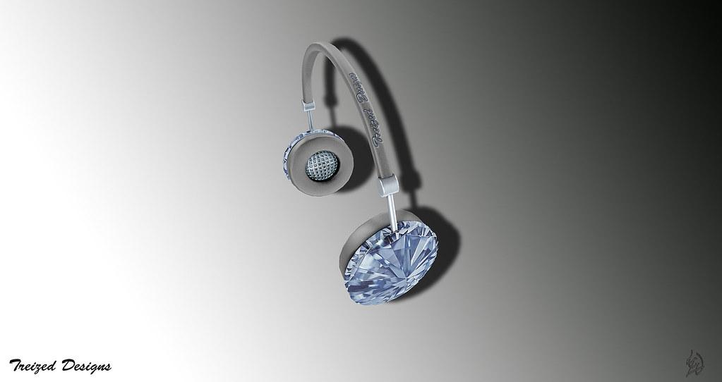 -Treized Designs-Diamond Special Edition headphones - SecondLifeHub.com
