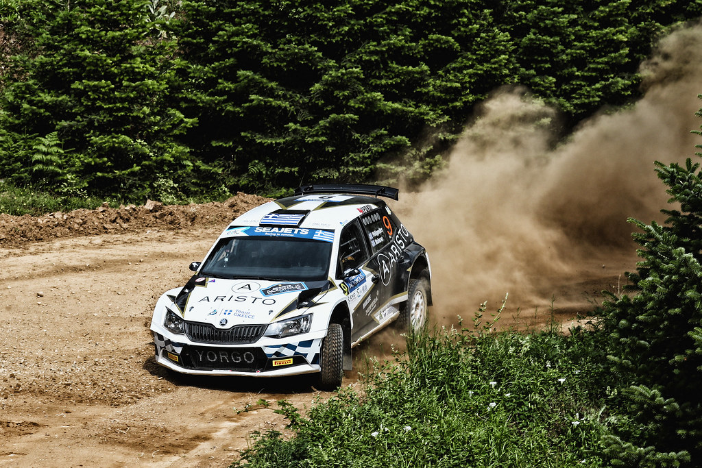 09 PHILIPPEDES George (grc) and MAHAERAS Leonidas (grc) action during the European Rally Championship 2017 - Acropolis Rally Of Grece - Loutraki From June 2 to 4 in Loutraki - Photo Gregory Lenormand / DPPI