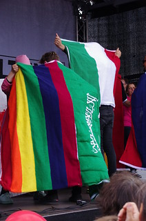 Rainbow and Saudi Arabia Flags