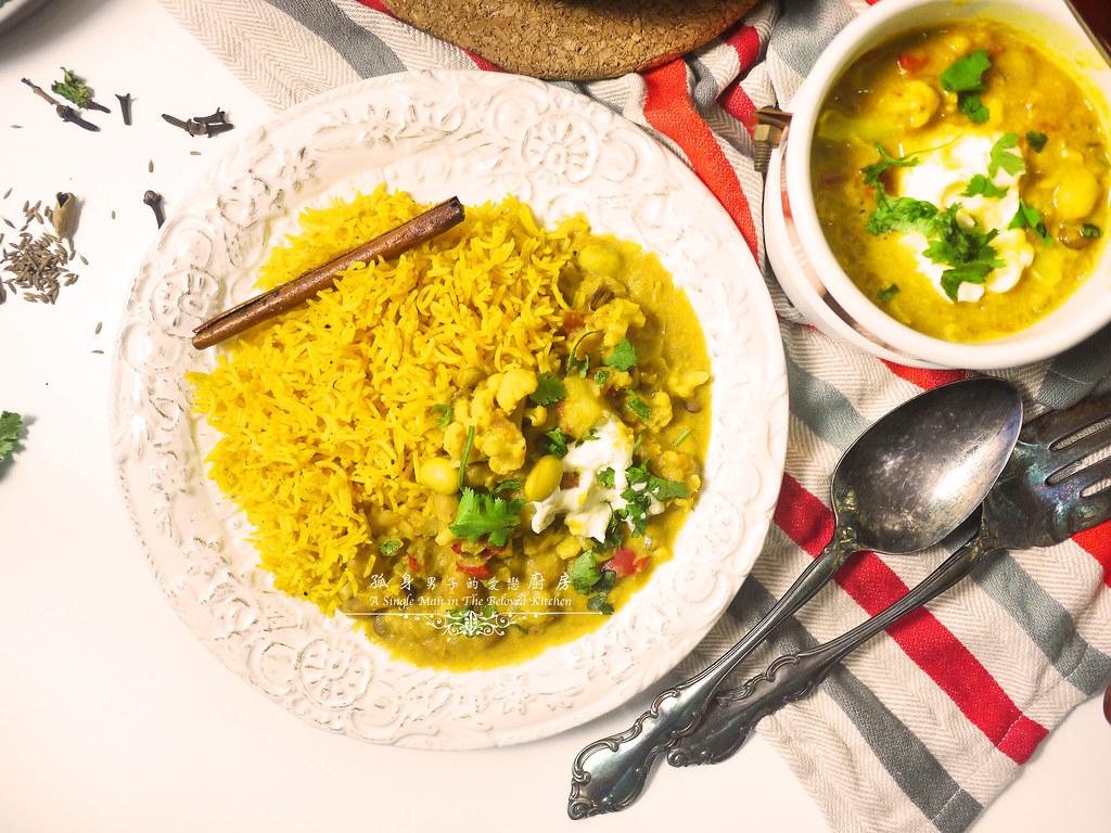 孤身廚房-Staub媽咪鍋煮超滿的印度蔬食花椰菜咖哩54