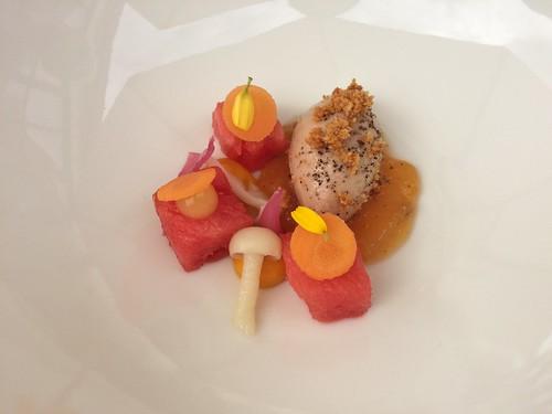 Amuse – Foie de Volaille – Melon, carotte