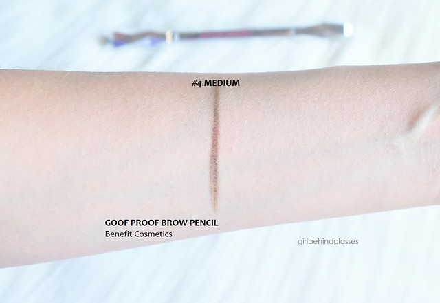 Benefit Goof Proof Brow Pencil #4 Medium Brown swatch