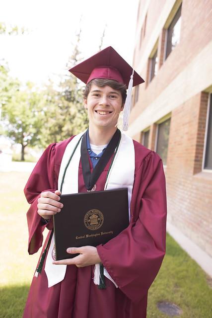 Judah CWU Graduation