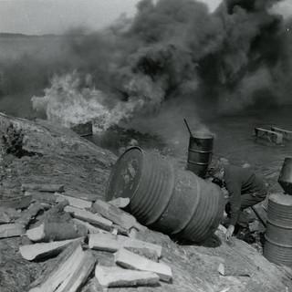 Hylkeenrasvan keittämistä vuonna 1967