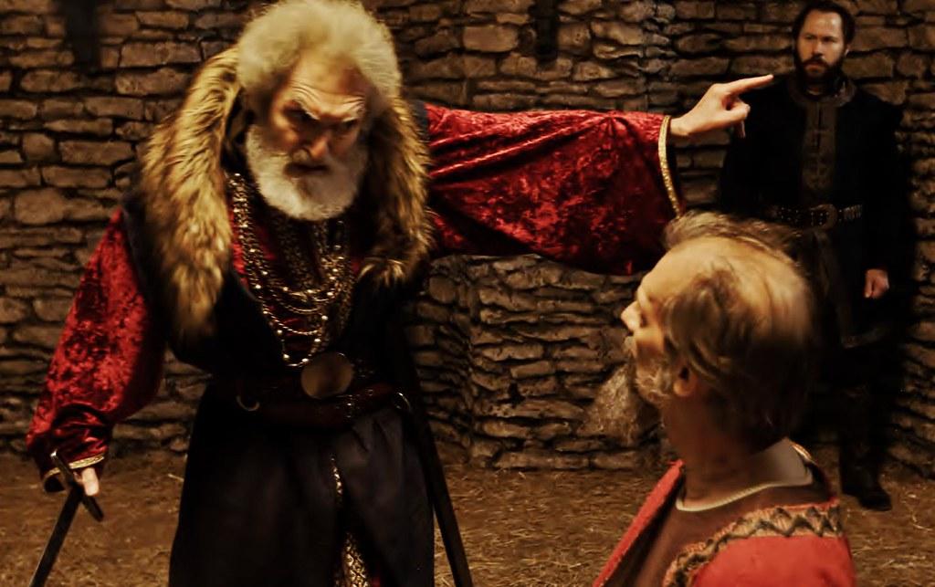 Lear banishes Kent Alexander Barnett Peter Holdway Shakespeare film.jpg