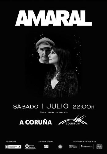 Amaral en A Coruña 2017 cartel