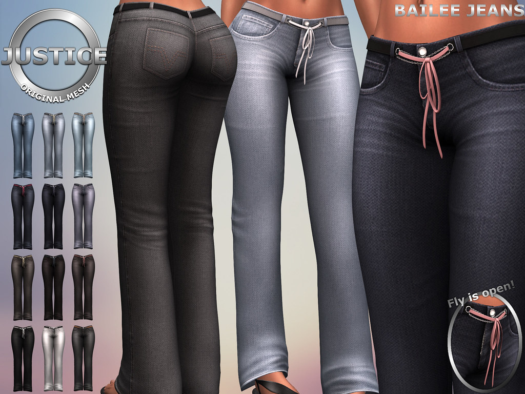 JUSTICE BAILEE JEANS FATPACK PIC - SecondLifeHub.com