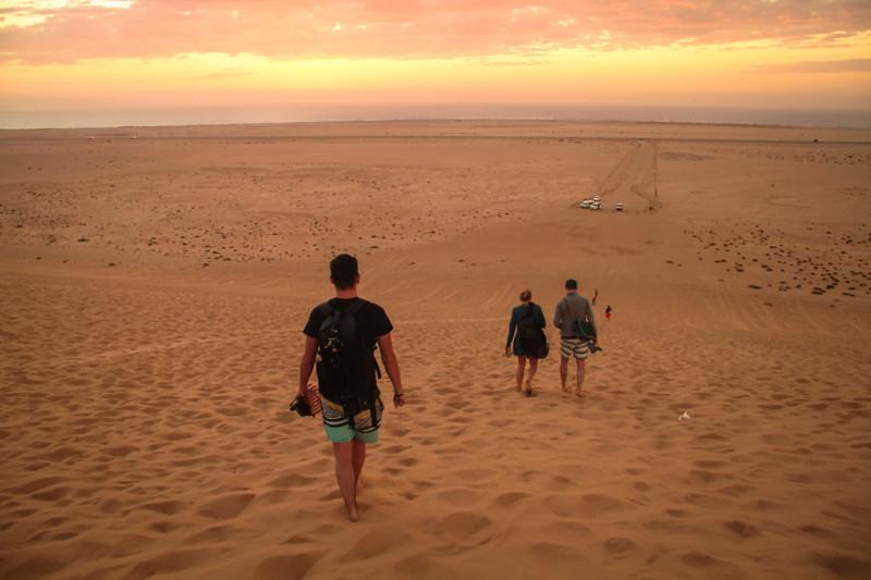 Namib Wüste Wünstenwanderung Traumurlaub in Namibia Swakopmund Meer