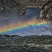 Rainbow over the edge where Shoshone Falls drops by Alaskan Dude