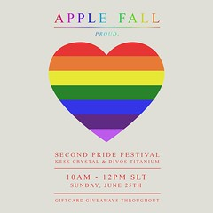 SUNDAY 10 am - Apple Fall at Pride 2017