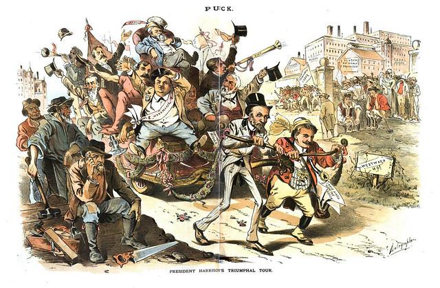 president harrison's triumphal tour (1889)