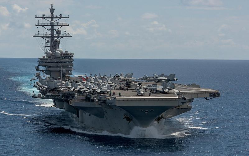 USS Ronald Reagan patrols the Western Pacific
