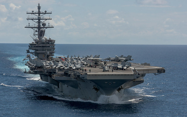USS Ronald Reagan patrols the Western Pacific