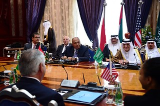 Secretary Tillerson Participates in a Ministerial Meeting With Foreign Ministers from Bahrain, Egypt, Saudi Arabia, and the UAE in Jeddah