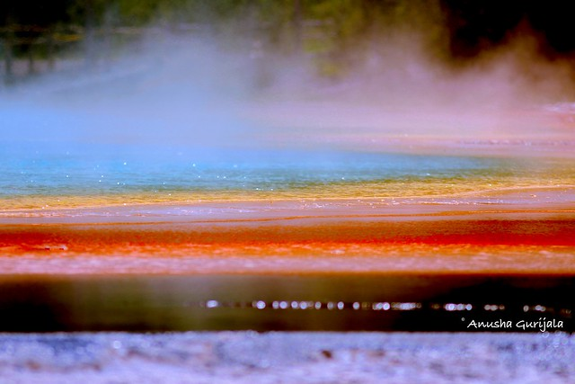 Grand Prismatic Hot Spring, Canon EOS REBEL T3I, Canon EF 300mm f/4L IS