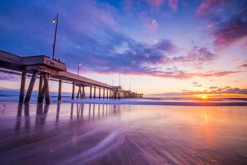 losangeles la venice venicepier california sunset seascape pier socal southerncalifornia seascpae landscape beach pacificocean venicebeach water ocean longexposure sun
