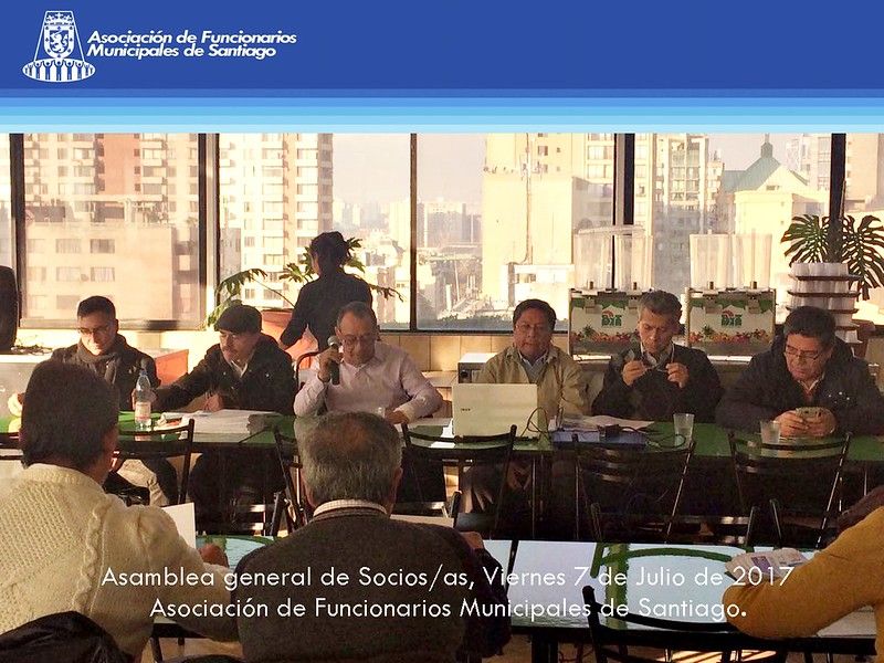 asamblea general socios socias asociacion funcionarios municipales santiago chile 7 julio 2017