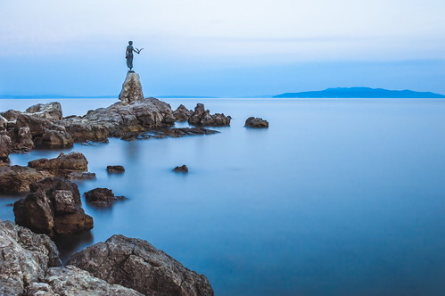croatia opatija sea water landscape