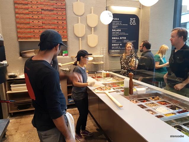 Pi Co. pizza counter