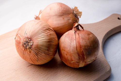 Onions on Wood