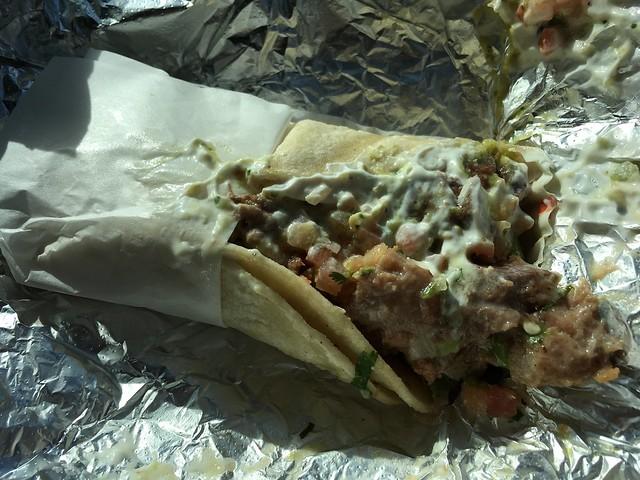 Lengua super taco - La Victoria Taqueria