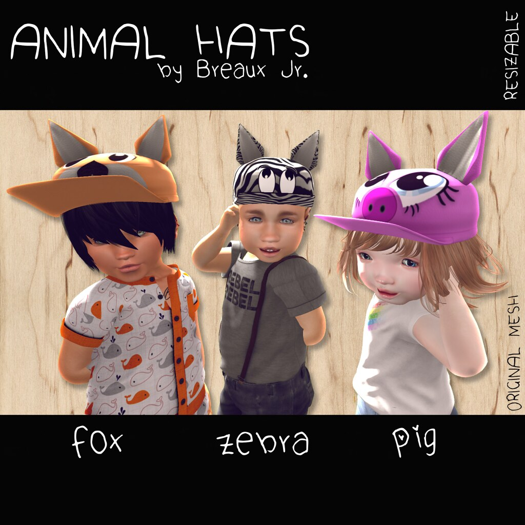 Animal Hats at Hello Beautiful! - SecondLifeHub.com