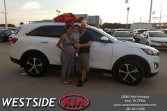 Congratulations Denis on your #Kia #Sorento from Rubel Chowdhury at Westside Kia!
