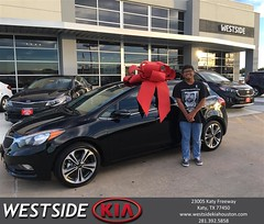 Happy Anniversary to Blesilda on your #Kia #Forte 5-Door from Rick Hall at Westside Kia!