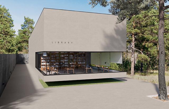 Concept light grey Library Fachada Amb01_V1