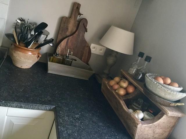 Chapati bord en houten lepels