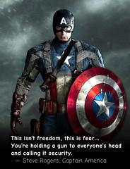 Captain America Freedom vs Fear