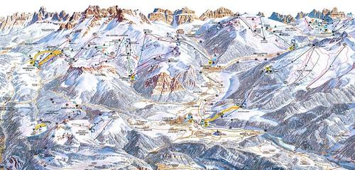 Obereggen - mapa sjezdovek