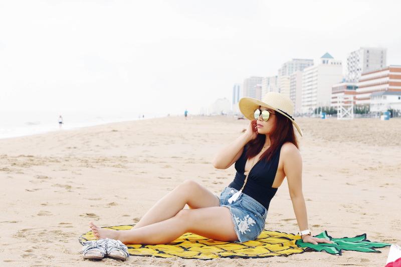 oceanfront-virginia-beach-black-swimsuit-denim-shorts-4