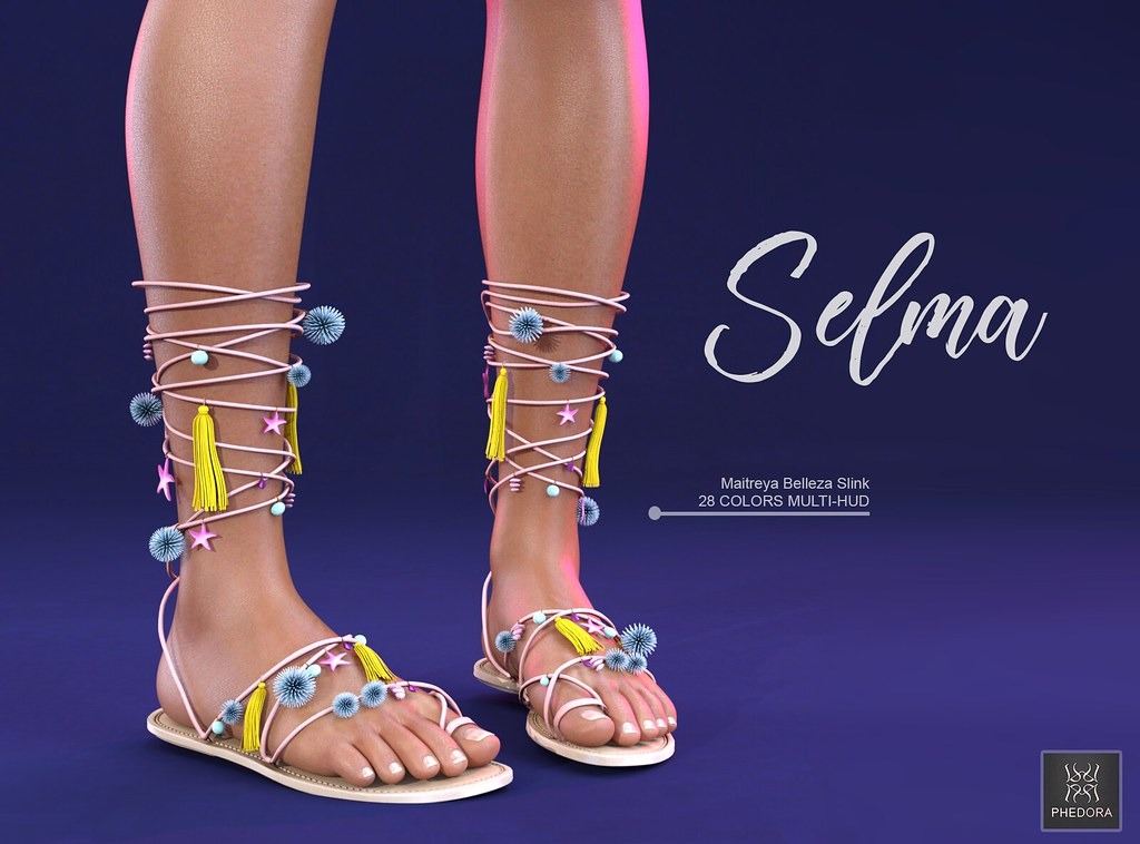 "Phedora. for Collabor88​- ""Selma"" Sandals! ♥ - SecondLifeHub.com"