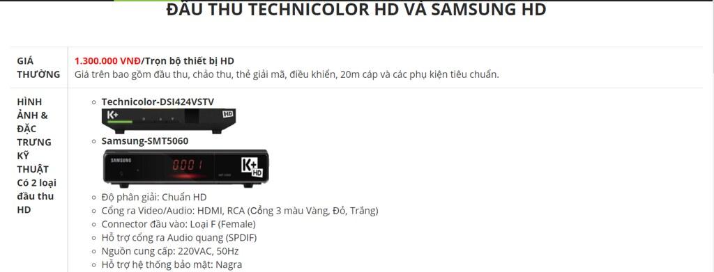 Lắp đặt truyền hình k+ HD