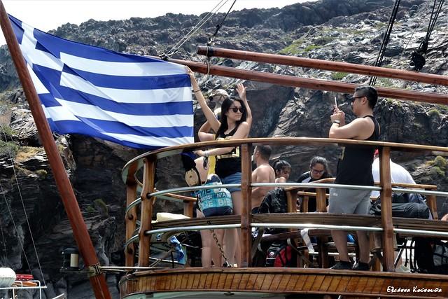 Cruise on the coast of Santorini