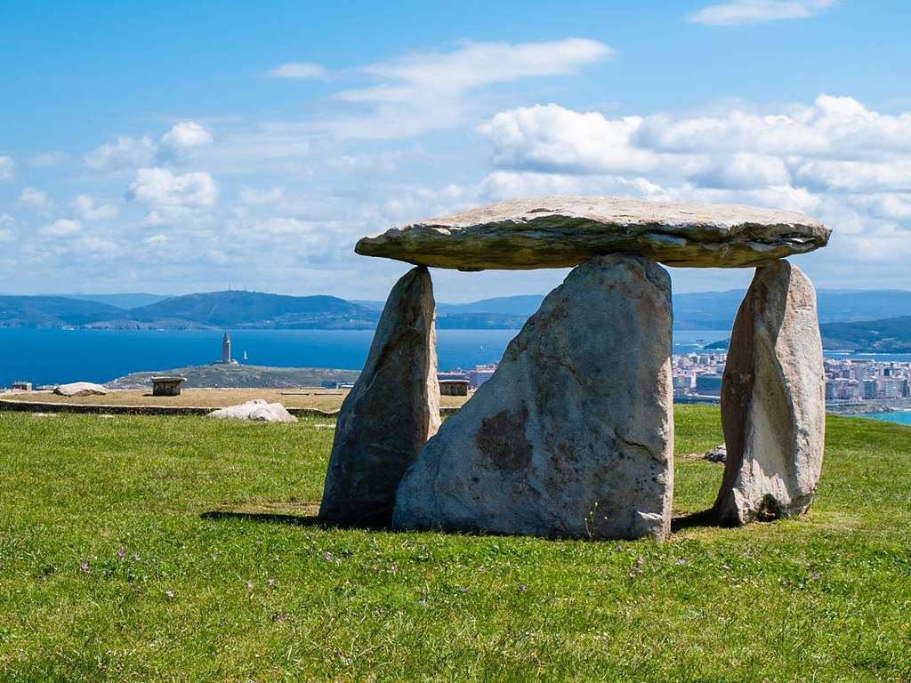 Stones. #dolmen #Coruña #Olympus #parquebens #spring #torredehercules #photography