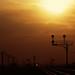 Signal Bridge sunset at Sandcut California by Ray C. Lewis