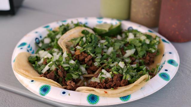 Asada Steak Tacos from Tacos Talpa in Des Moines, Iowa