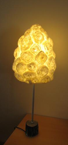 Lampe cone laine