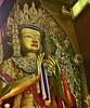 NEPAL, Rund um Bodnath und die große Stupa, Buddhastatue, 16259/8566