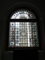 Stained Glass Stairway Window