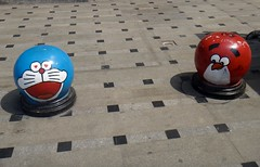 Doraemon and Angry Birds bollards