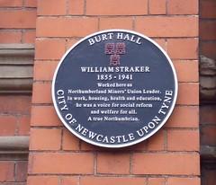 Photo of William Straker black plaque