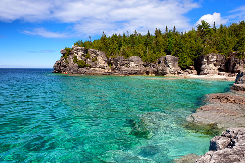 grotto lake clearwater rocks landscape ontario northernbrucepeninsula tobermory