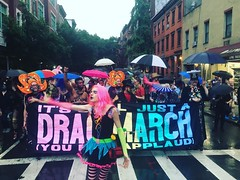 We're here! We're queer! We're fucking up your traffic! #nycdragmarch